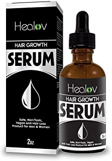 Natural Hair Growth Serum, 2 oz – Intensive Fast Grow Blend of Essential Oils – Thickening, Strengthening Damage Repair Tr...