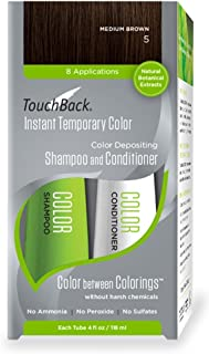 TouchBack Color Shampoo and Conditioner Set Medium Brown
