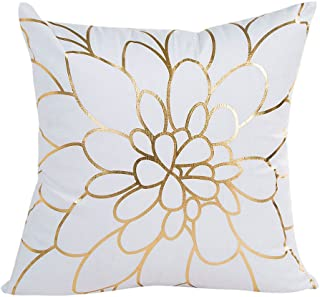 Throw Pillow Covers, E-Scenery Clearance Sale! Gold Foil Square Decorative Throw Pillow Cases Cushion Cover for Sofa Bedroom Car Home Decor, 18 x 18 Inch (A)