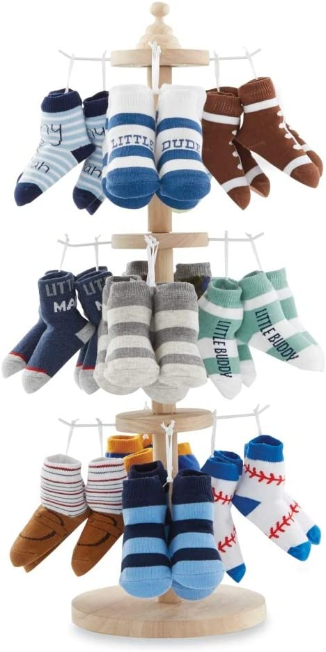 Mud Pie The Kids Shoppe Wood Sock Spinner 24 1/2