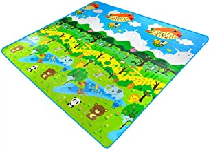 200cm×180cm Baby Crawling mat,Double Sided Waterproof Moistureproof Forest & Botanical Garden Baby Playing Crawling Mat
