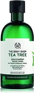 The Body Shop Tea Tree Skin Clearing Facial Wash, 13.5 Fl Oz (Vegan)