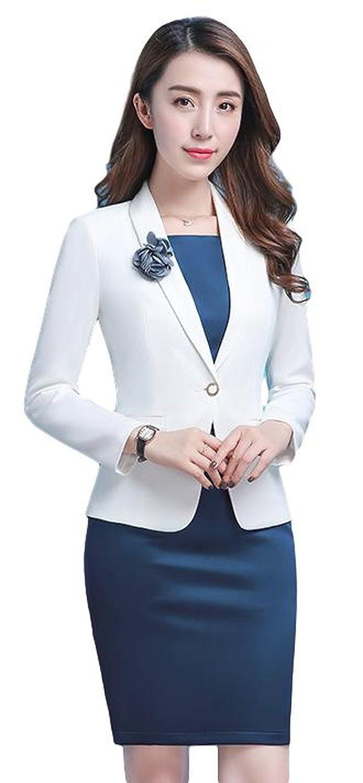 レディース ファッションスーツ スカートスーツ ジャケット OL 体型カバー サイズ豊富 美脚 脚長効果 セレブファッション
