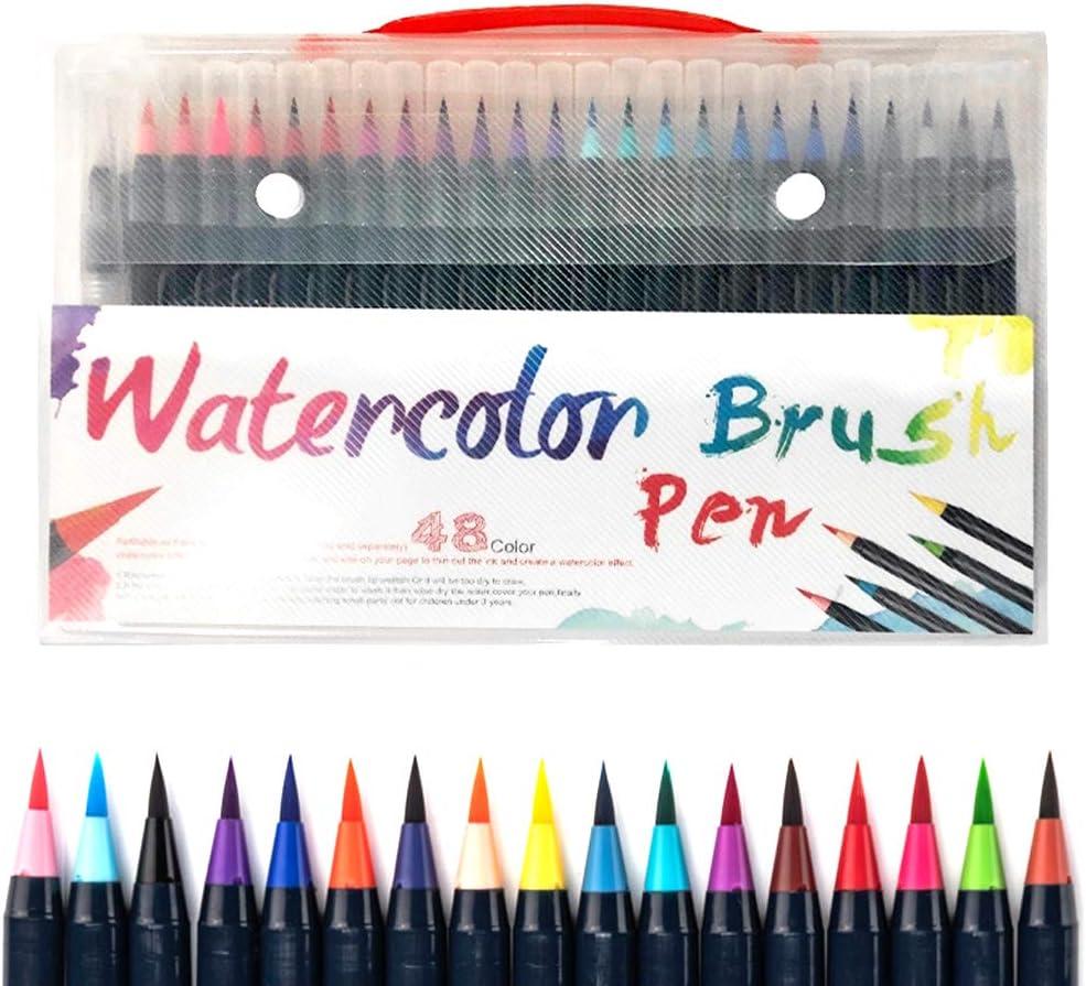 Locomo Watercolor Brush Pen 48+1 Tip Water At the price Nylon Max 53% OFF Flexible