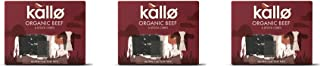 (3 PACK) - Kallo Beef Stock Cubes - Low Salt & Organic| 51 g |3 PACK - SUPER SAVER - SAVE MONEY