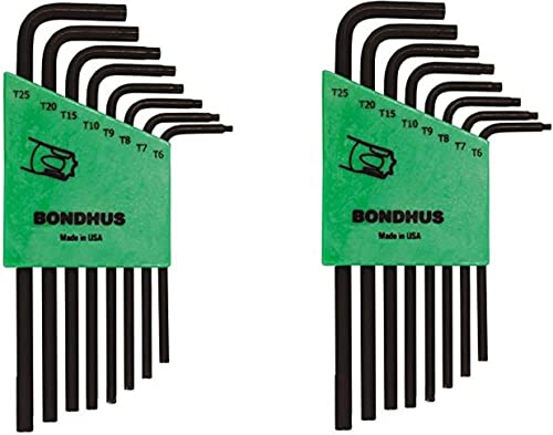 high quality Bondhus 31832 new arrival Set of 8 Star L-wrenches, Long Length, sizes online sale T6-T25 (Pack of 2) online