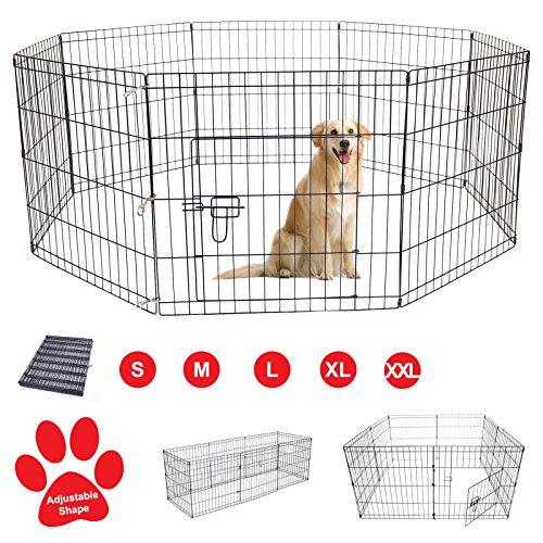 AVC Designs Pet Dog Pen Puppy Cat Rabbit Foldable Playpen Indoor/Outdoor Enclosure Run Cage (Small:...