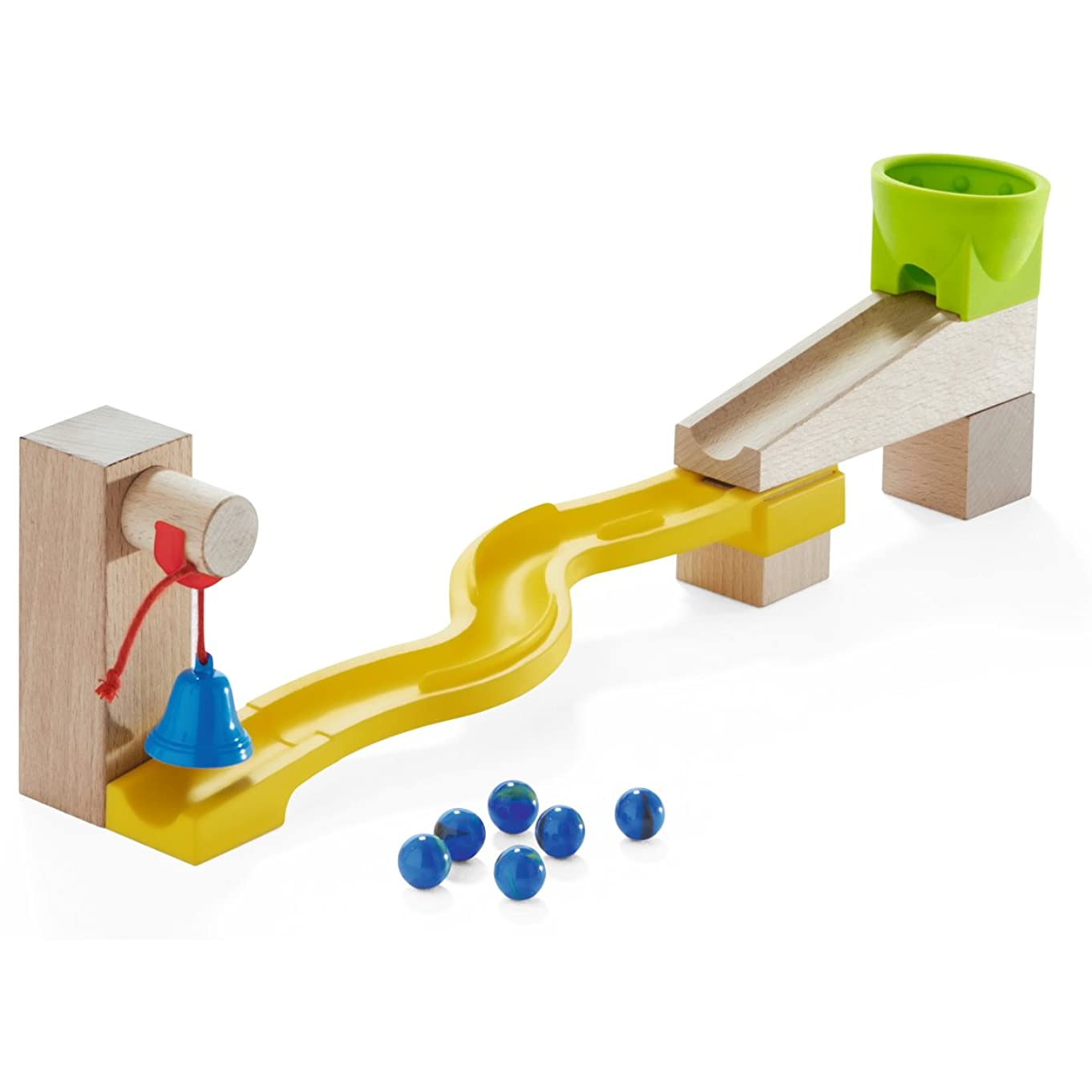 HABA Ball Track Snake Run Add-On Set - Marble Ball Track Accessory (Made in Germany)