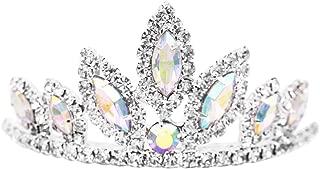 Rosemarie Collections Women's Princess Mini Tiara Crystal Hair Comb Crown