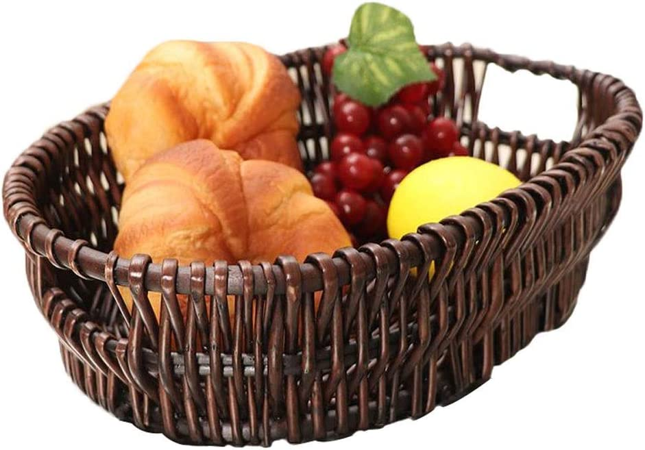 QTQHOME Wooden Hand-Woven Max 70% OFF Finally resale start Kitchen Basket Storage Capacity Large
