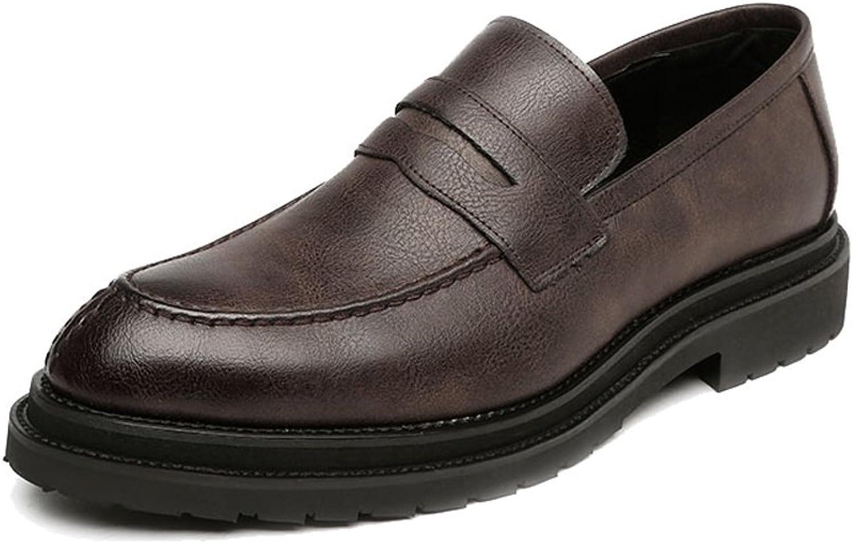 Ruiyue Leder Oxford Schuhe Herren , Glatt Frosted PU Leder Obermaterial Slipper Slip-On Schuhe Herren Businesssohle Oxfords für Männer (Farbe   Braun, Größe   38 EU)    Heißer Verkauf
