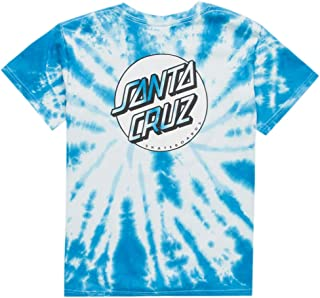 Santa Cruz Missing Dot Tie Dye Girls Tee, Blue Combo, Large
