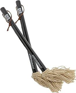 Lillie's Q - Sauce Mop, BBQ Basting Brush, Wood Handle, Cotton Mop Head (2 Count)