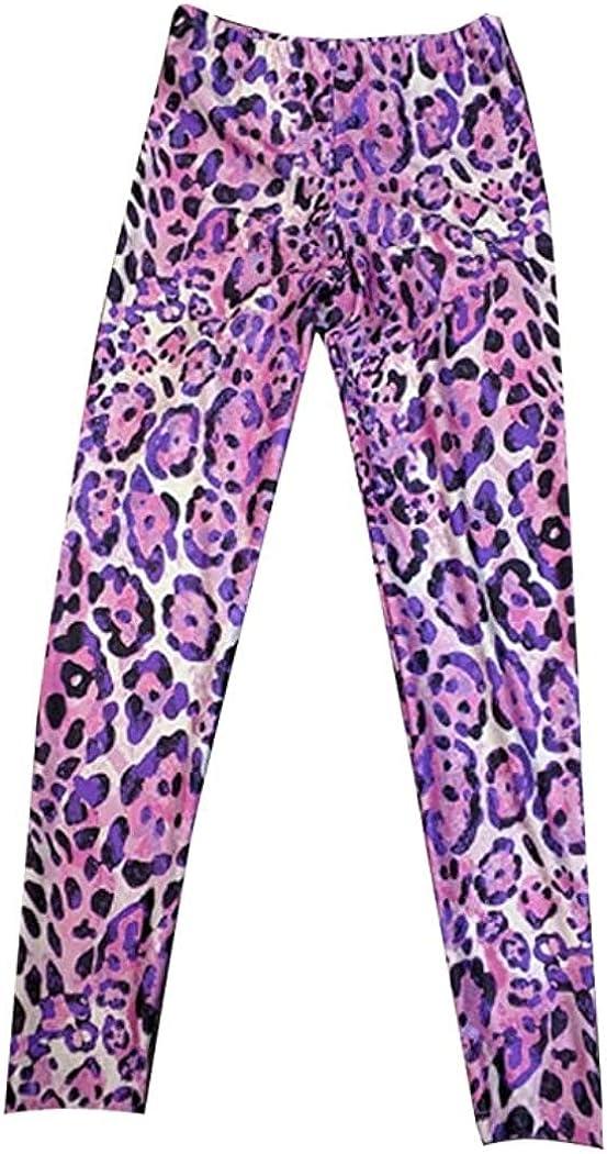 DanceNwear Little Girls Pink Cheetah Print Leggings