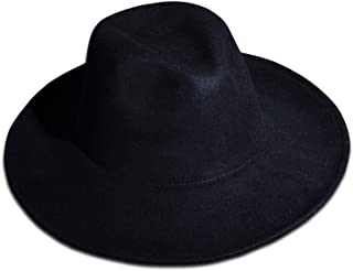 Men's Fashion Noir Wool Felt hat Chic Black Urban Fedora