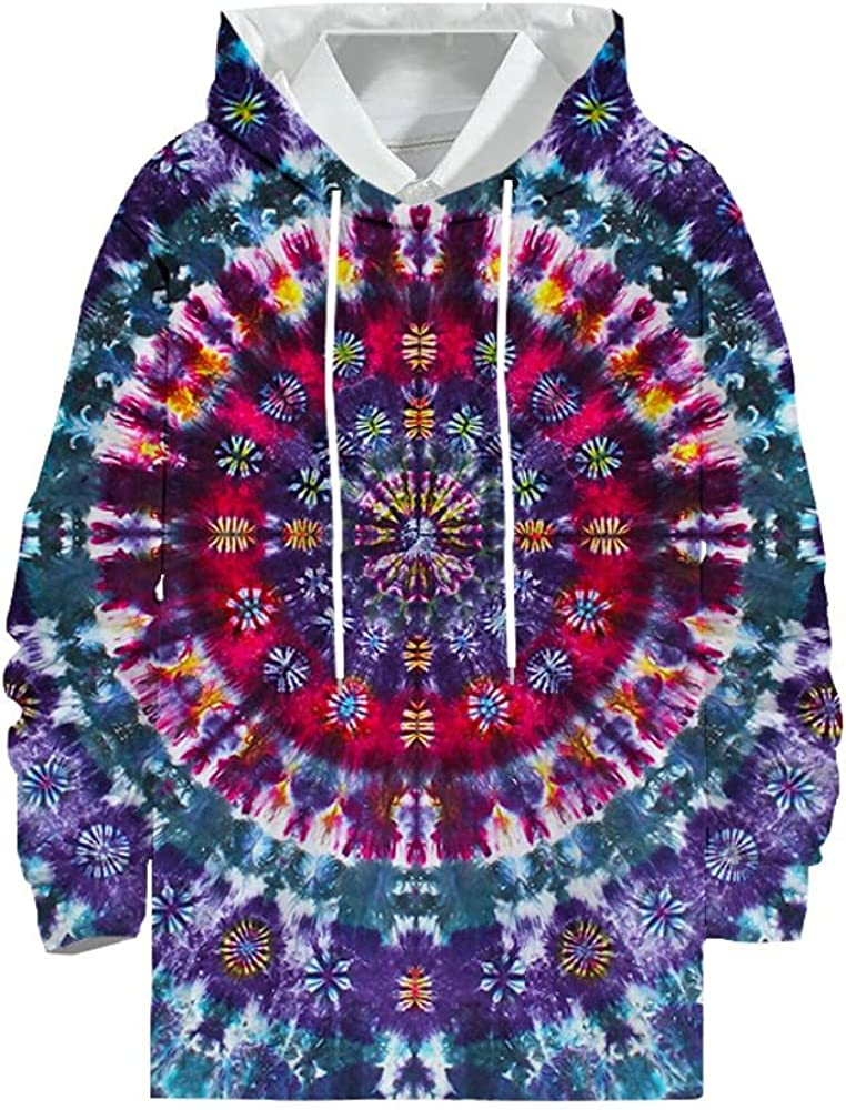 Men's Tie Dye Hoodie Long sweatshi Max 86% OFF Sleeve Max 59% OFF Hooded Pullover Casual