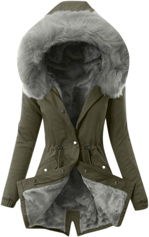 S&S Women Thicken Warm Winter Coat with Faux Fur Lined Hood Outerwear Jacket