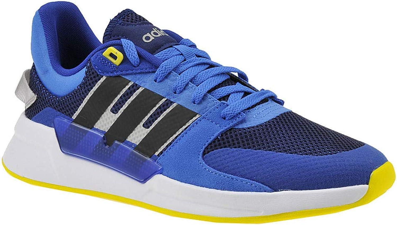 Adidas Herren Run90s Laufschuhe Dark Blau Core schwarz Shock Gelb