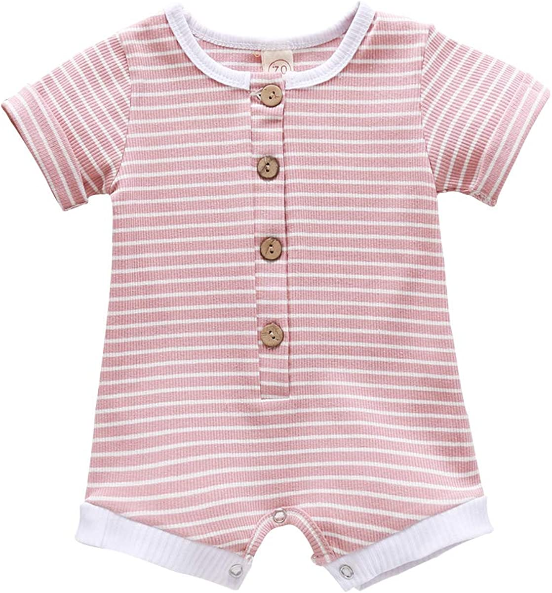 YOUNGER STAR Baby Boy Summer Clothes Ribbed Cotton Romper Shorts Set Newborn Boy Casual Jumpsuit Outfits
