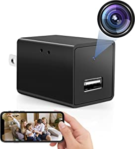 Spy Camera USB Phone Charger -1080p HD Hidden Camera, WiFi Wireless Wall Plug USB Charger [Motion Detection, AC Adapter, Remote App Control] Nanny Camera |Home, Kids, Baby, Pet Monitoring cam