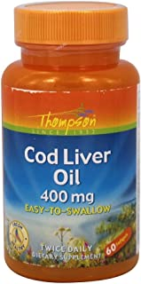 Cod Liver Oil High Potency Thompson 60 Tabs