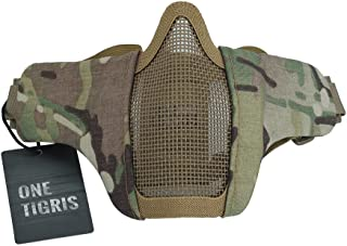 OneTigris 6 Foldable Half Face Mesh Mask Military Style Comfortable Adjustable Tactical Lower Face Protective Mask