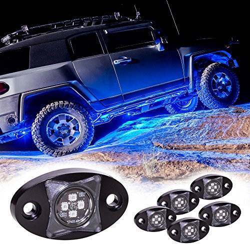 LAMPHUS 6pc Stardust SDRL14 LED Offroad Rock Crawling Lights Kit - Blue