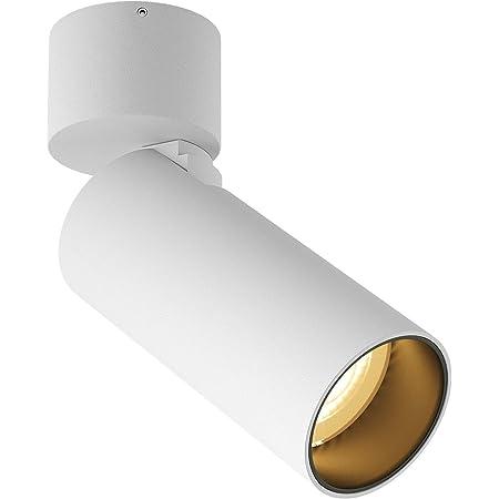 SAINUO LED Spots de Plafond,5W 3000K spot plafond,CRI> 90,Pas de scintillement,Peut être vertical à 90 ° et pivoté à 350 °,Spot Orientable,Luminaire Intérieur pour Chambre Salon Cuisine Couloir