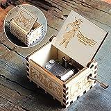 Caja de música Bhu Juego de Tronos de madera antigua manivela azul Pokemon Wars caja de regalo, Dragon Ball