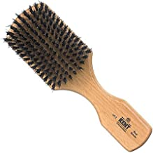Kent OG2 Rectangular Men Club Beech Wood Natural Black Bristle Gentleman's Hair Brush - Medium/Thickness Hair, 360 Wave Brush, Encourages Hair Growth