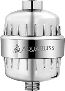AquaBliss High Output Beauty Shower Filter - Reduces Dry Itchy Skin, Dandruff, Eczema, and Dramatically Improves The Condition of Your Skin, Hair and Nails - Chrome (SF100)