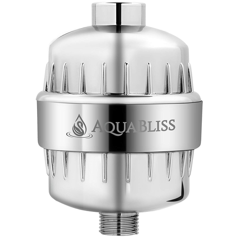 AquaBliss - Filtro de ducha cromado de alta intensidad de 12 etapas que reduce la piel seca, la caspa y los eccemas ...