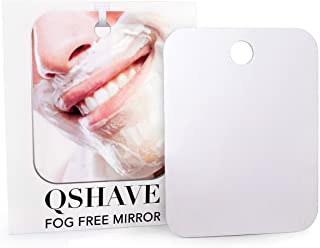 QSHAVE Fogless Shower Mirror Large Size with Suction Hook and Adhesive Hook Perfect for Shaving