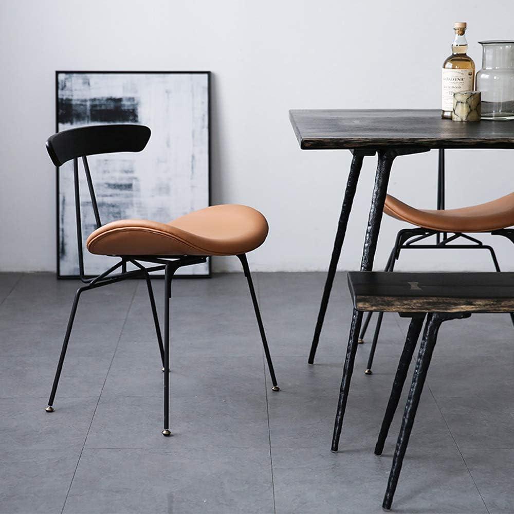 QWEA Chaises de Salle à Manger, Chaises de Cuisine Chaises d'appoint Modernes avec Dossier en PU, Chaises de Salon avec Pieds en métal, Marron Green