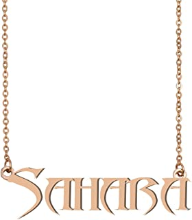 HUAN XUN Custom Simple Special Gold Name Necklace Jewelry Gifts for Womens