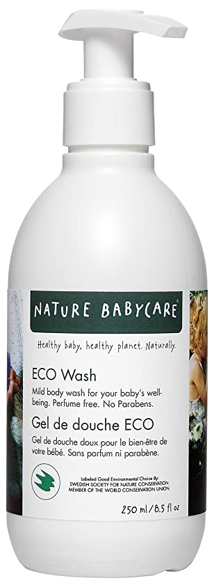 接触寺院ボタンNature Babycare ECO Body Wash