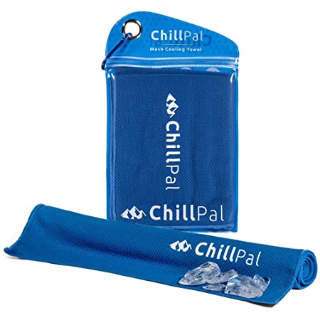 Chill Pal Mesh Cooling Towel (Blue, 12 x 40 inch)