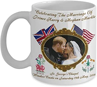 Prince Harry And Meghan Markle Royal Wedding Dragon & Rose Commemorative Coffee Mug