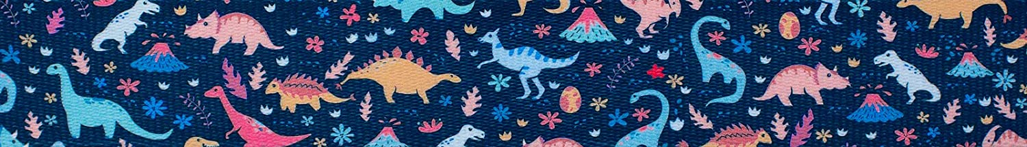 Country Brook Design Super special price Overseas parallel import regular item - Dinosaurs 1 Polyester Inch Webbing