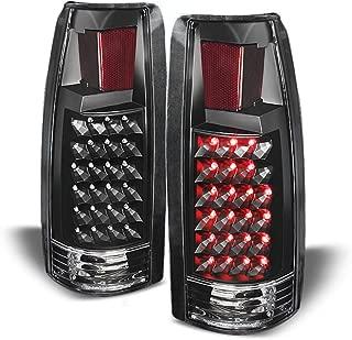 ACANII - For Black 1988-1998 chevy Silverado C/K Suburban Tahoe Sierra LED Tail Lights Lamps Driver & Passenger Side
