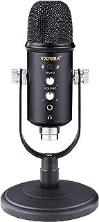 Honeytecs vxmba Desktop Microphone Multipurpose USB Condenser Microphone Podcast Computer Gaming Mic Volume Control Mute B...