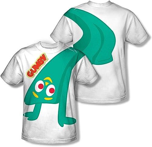 Gumby - Bend Backwards pour hommes (Front   Back Imprimer) T-shirt -