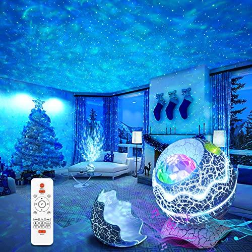 Proyector Estrellas, ZOZANEL Proyector Galaxia con Ruido Blanco para Infantil, Proyector Estrellas Techo Ddultos con Control Remoto, Proyector Bebes Luces y Musica para Decoración de habitación…