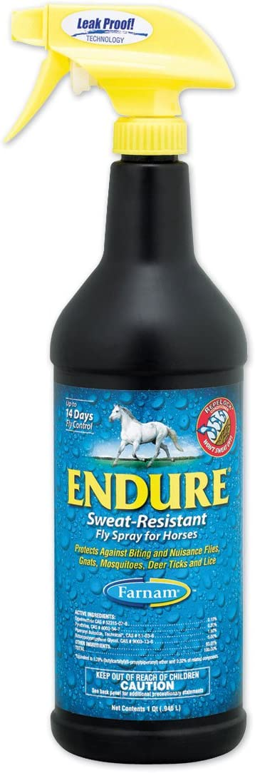 Endure Sweat-Resistant Fly 贈呈 Spray Qt Horses 激安卸販売新品 for 1