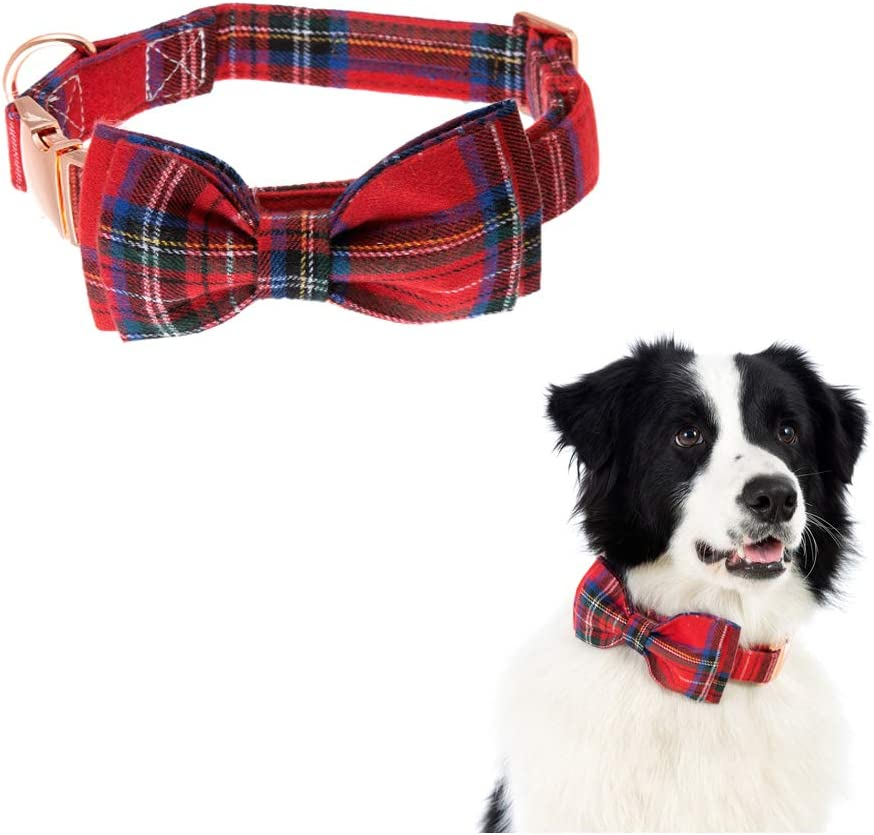 Dog Collar Bow tie Adjustable Fort Max 51% OFF Worth Mall Collars Dogs for F and Cats