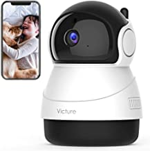 Victure 2020 Upgraded 1080P Pet Camera, 2.4G WiFi Camera with Smart Motion Detection/Tracking, Sound Detection, Two-Way Au...
