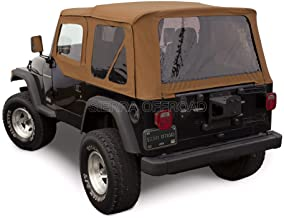 Compatible with Wrangler TJ (1997-2002) Factory Style Soft Top with Tinted Windows, with matching Upper Door Skins Spice D...