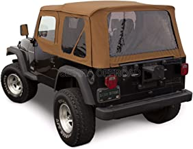 Sierra Offroad Jeep Wrangler TJ (1997-2002) Factory Style Soft Top with Tinted Windows, with matching Upper Door Skins Spice Denim