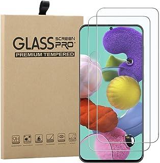 Young & Min Skärmskydd för Samsung Galaxy A51 4G/5G, [2-pack] 9H hårdhet, bubbelfri, anti-fingeravtryck HD härdat glas skä...