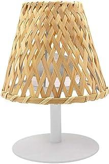 Lumisky IBIZA Lámpara de mesa inalámbrico, Acero, Gris, Bambú